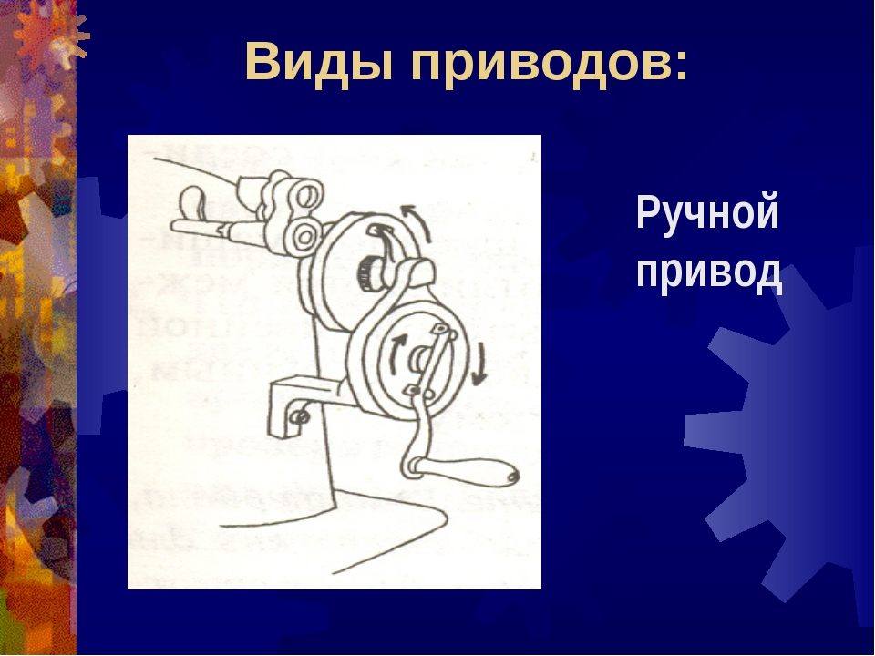 Виды приводов: Ручной привод