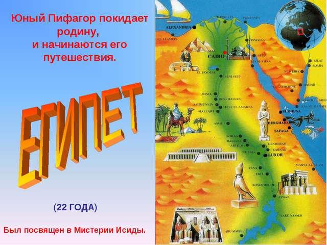Юный Пифагор покидает родину, и начинаются его путешествия. (22 ГОДА) Был пос...