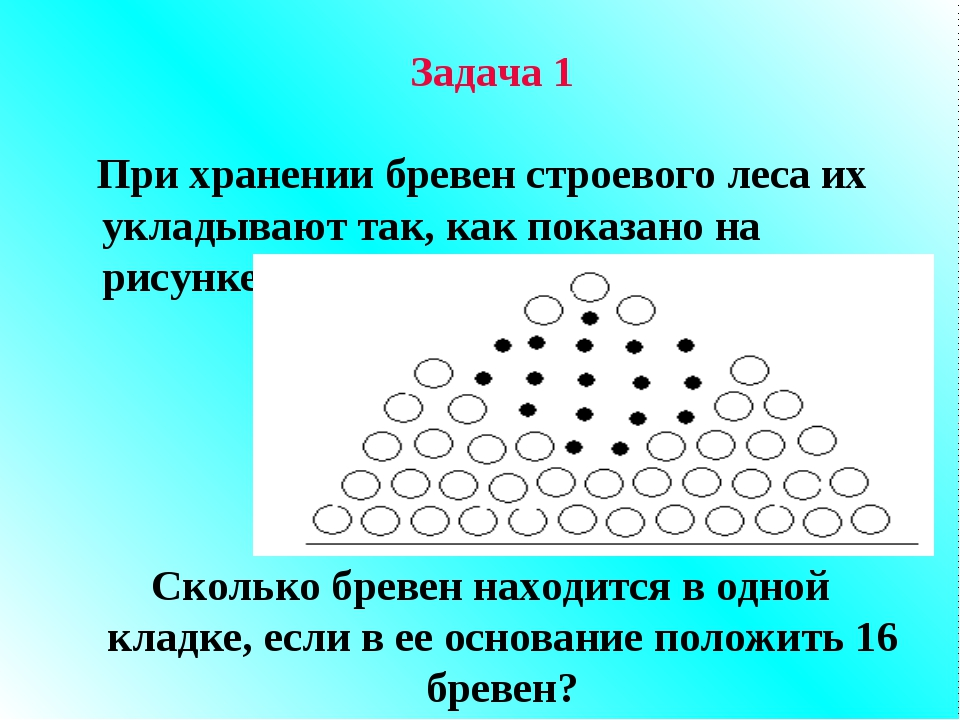 Задача 1 При хранении бревен строевого леса их укладывают так, как показано н...