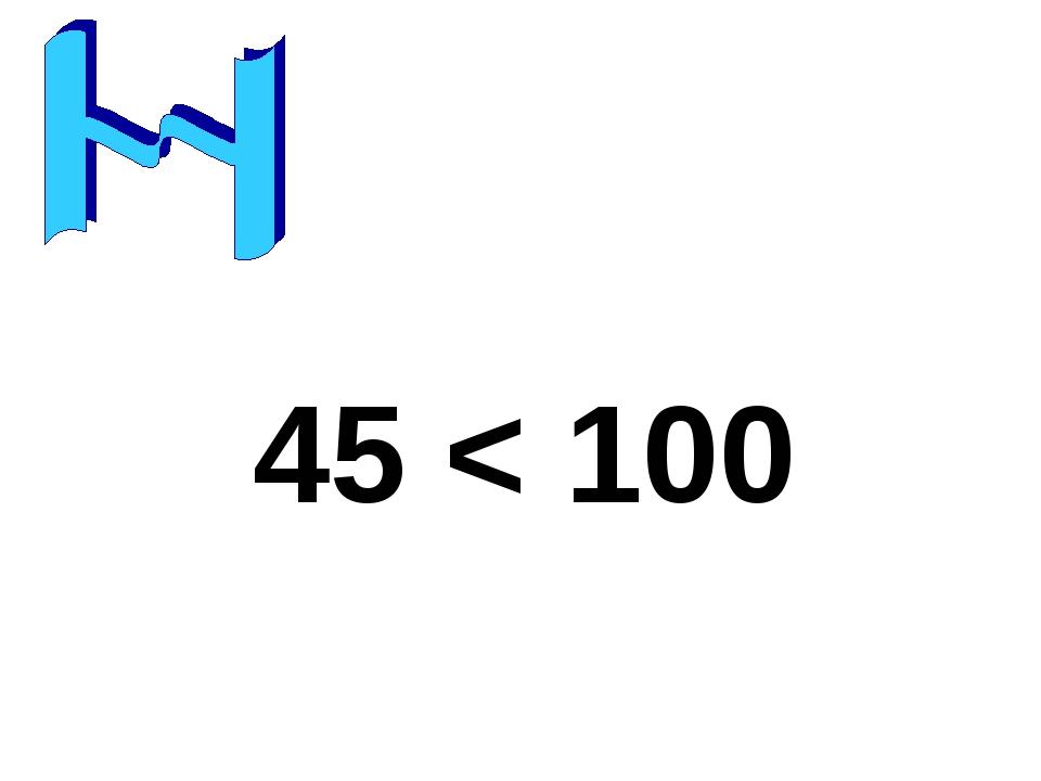 45 < 100