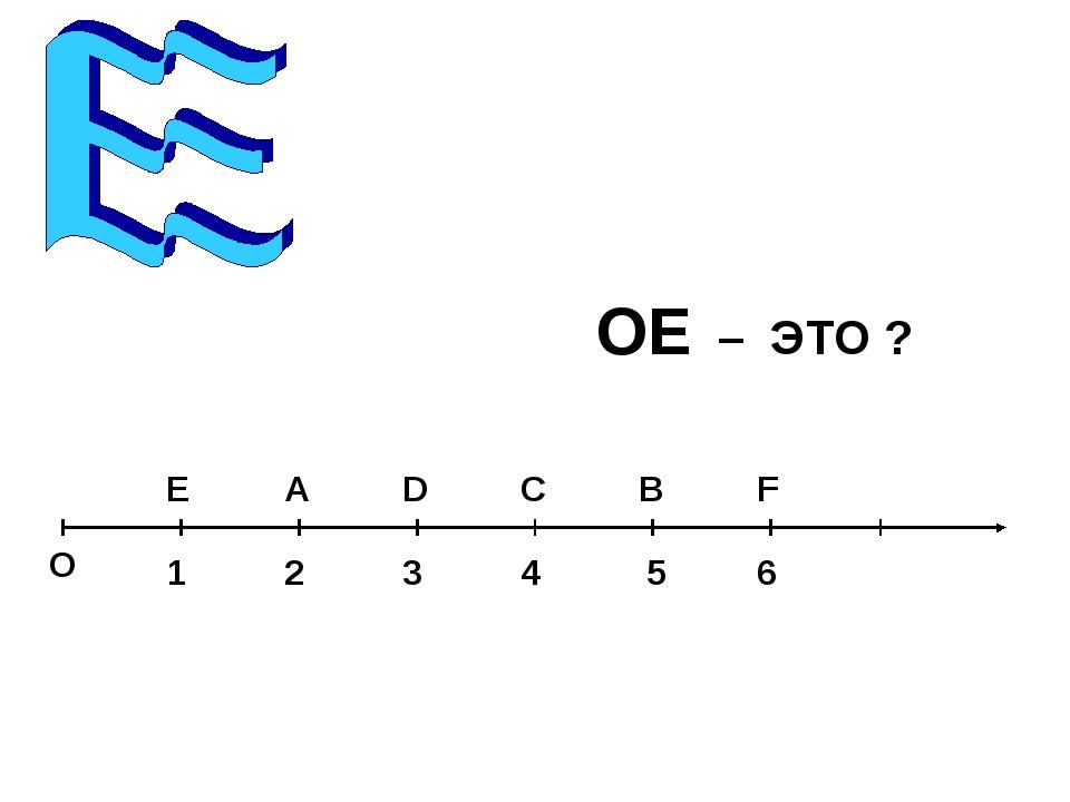 О 1 А С Е В F D 2 3 4 5 6 ОЕ – ЭТО ?
