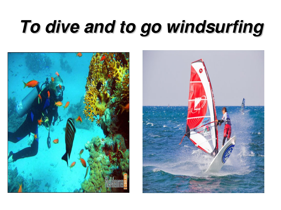 To dive and to go windsurfing