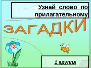 Узнай слово по прилагательному 1 группа