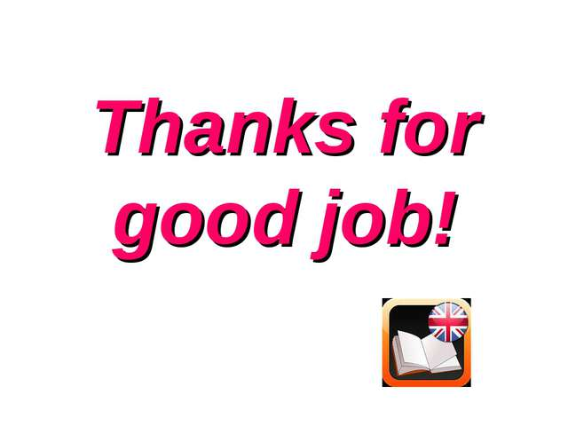 Thanks for good job!