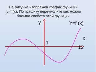 На рисунке изображен график функции у=f (х). По графику перечислите как можно
