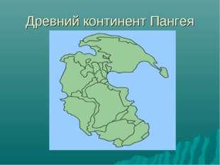 Древний континент Пангея