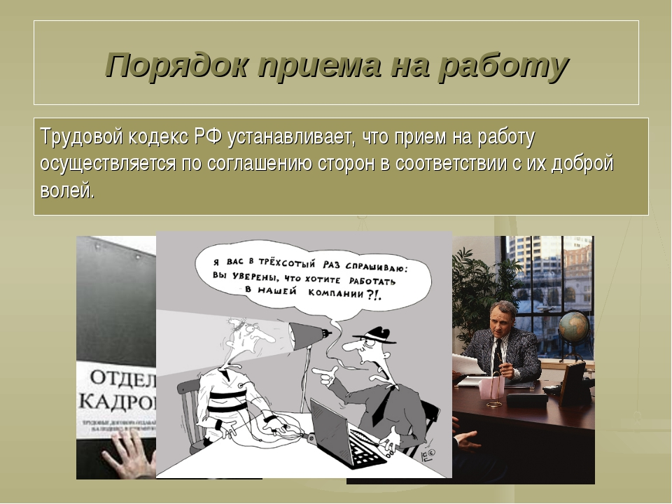Порядок приема на работу Трудовой кодекс РФ устанавливает, что прием на работ...