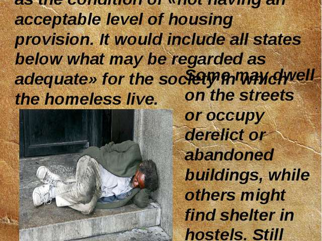The book Strategies to Combat Homelessness, published by the United Nations C...