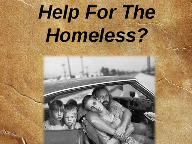 Chapter 4 Help For The Homeless?