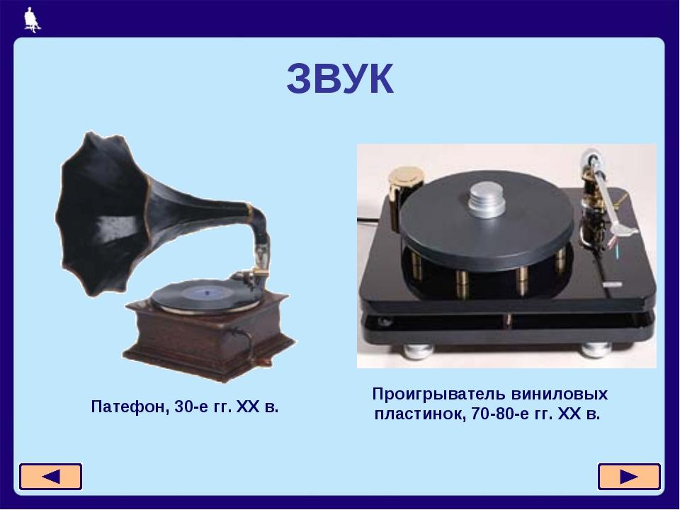 ЗВУК Патефон, 30-е гг. XX в. Проигрыватель виниловых пластинок, 70-80-е гг. X...