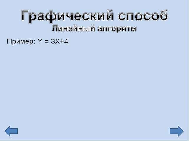 Пример: Y = 3X+4
