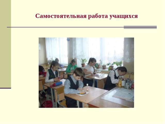 Самостоятельная работа учащихся