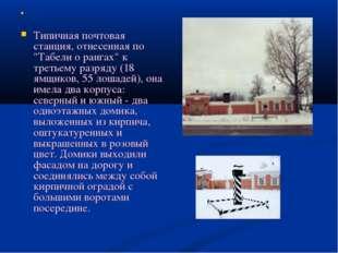 """Типичная почтовая станция, отнесенная по """"Табели о рангах"""" к третьему разряд"""
