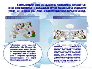 Компьютерлік желі жұмыс істеу принципіне, аппараттық және программалық қамта