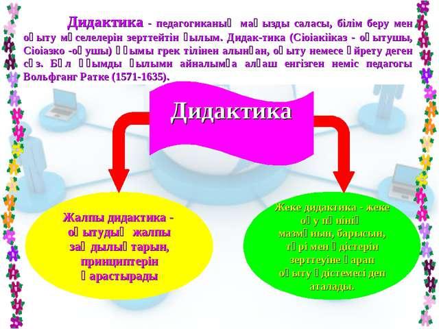 Дидактика - педагогиканың маңызды саласы, білім беру мен оқыту мәселелерін з...