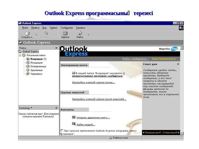 Outlook Express программасының терезесі