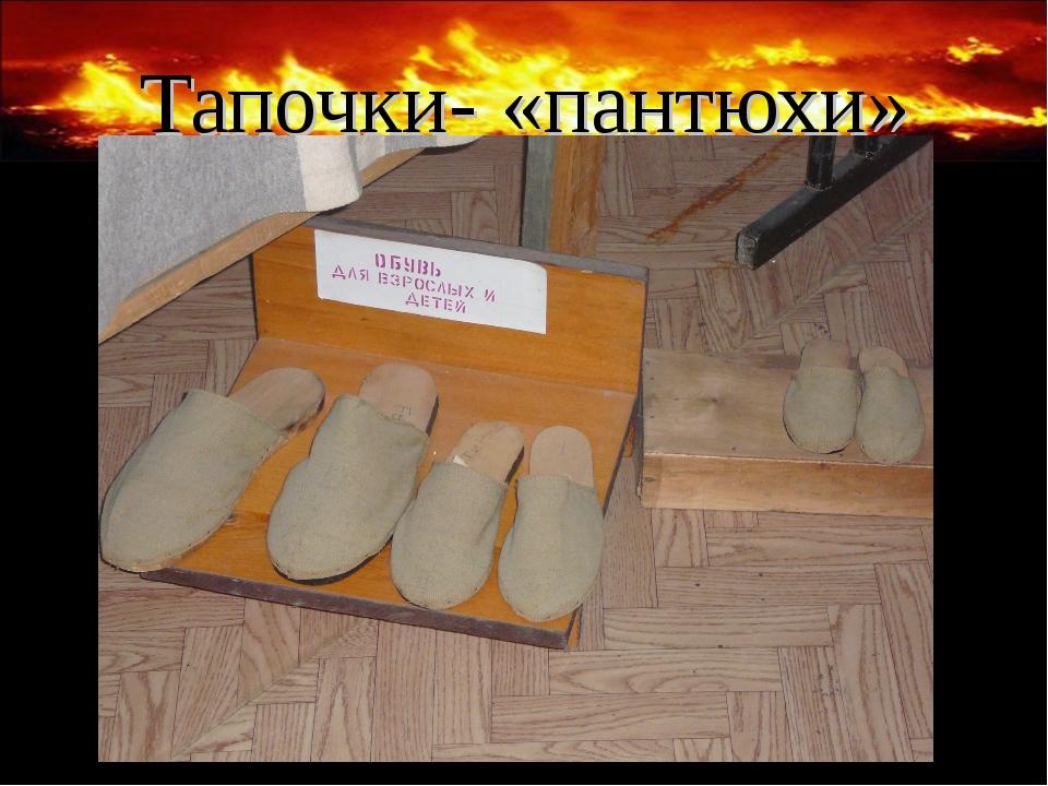 Тапочки- «пантюхи»