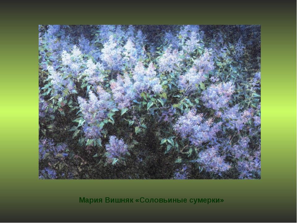 Мария Вишняк «Соловьиные сумерки»