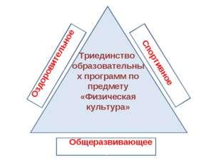 Триединство образовательных программ по предмету «Физическая культура» Оздоро