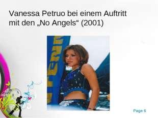 """Vanessa Petruo bei einem Auftritt mit den """"No Angels"""" (2001) Free Powerpoint"""