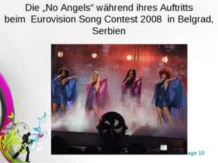 """Die """"No Angels"""" während ihres Auftritts beim Eurovision Song Contest 2008 i"""