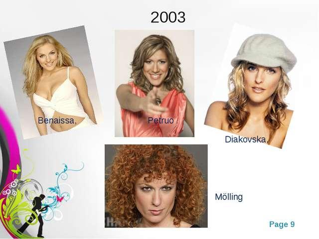 2003 Benaissa, Petruo Diakovska, Mölling Free Powerpoint Templates Page *