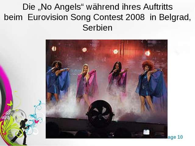 """Die """"No Angels"""" während ihres Auftritts beim Eurovision Song Contest 2008 i..."""
