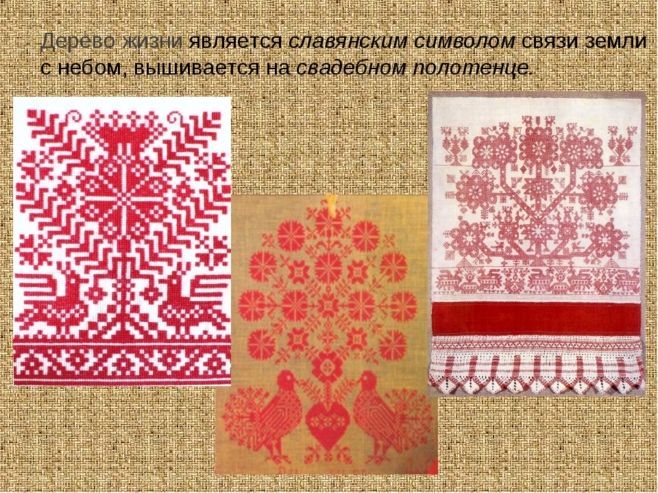 Дерево жизни является славянским символом связи земли с небом, вышивается на...