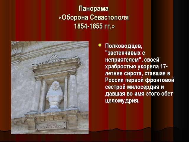 """Панорама «Оборона Севастополя 1854-1855 гг.» Полководцев, """"застенчивых с непр..."""