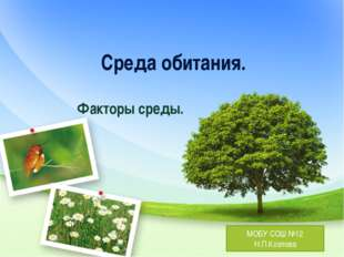 Среда обитания. Факторы среды. МОБУ СОШ №12 Н.П.Козлова