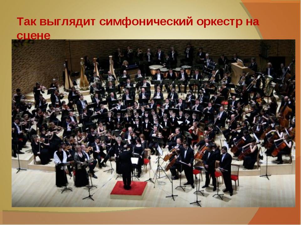 Так выглядит симфонический оркестр на сцене