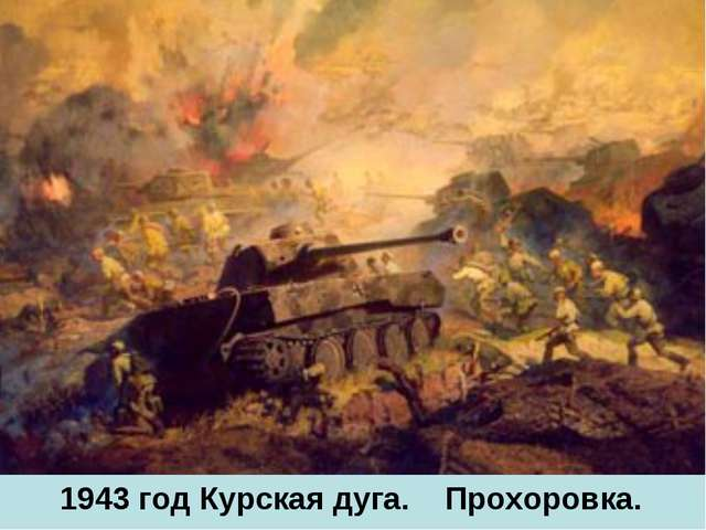 1943 год Курская дуга. Прохоровка.