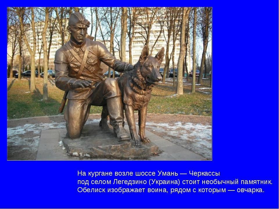На кургане возле шоссе Умань — Черкассы под селом Легедзино (Украина) стоит н...