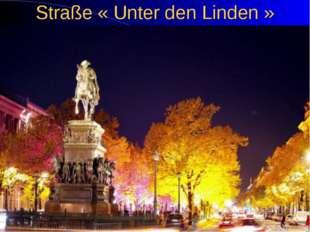 Straße « Unter den Linden »