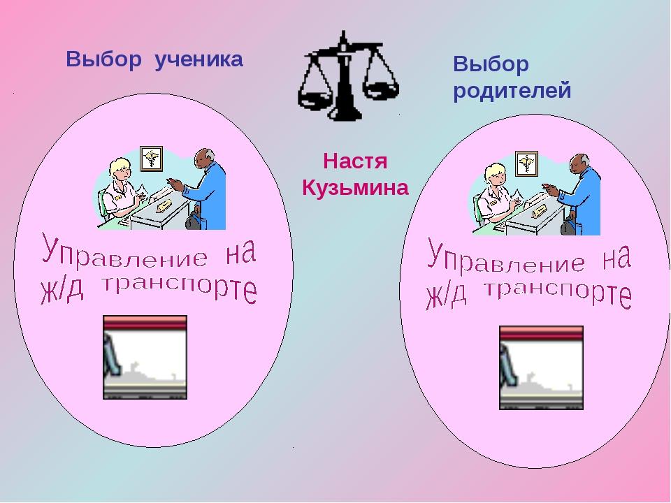 Настя Кузьмина Выбор ученика Выбор родителей