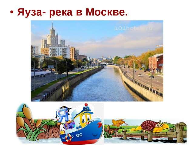 Яуза- река в Москве.