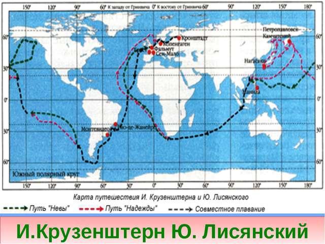 И.Крузенштерн Ю. Лисянский