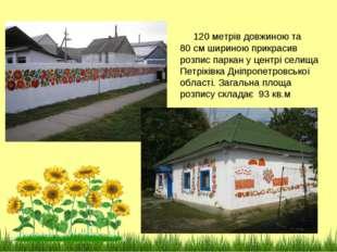 120 метрів довжиною та 80 см шириною прикрасив розпис паркан у центрі селища