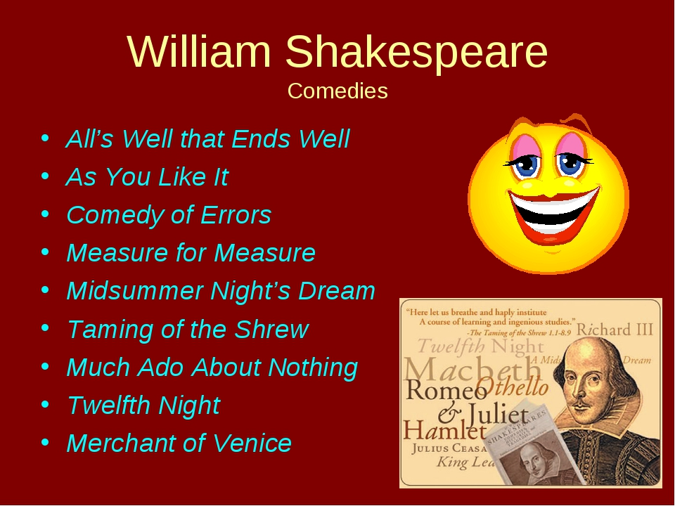 William Shakespeare Comedies All's Well that Ends Well As You Like It Comedy...
