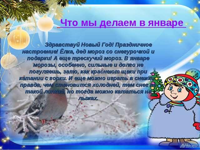 Что мы делаем в январе Здравствуй Новый Год! Праздничное настроение! Ёлка,...
