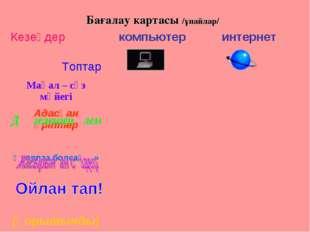 Бағалау картасы /ұпайлар/