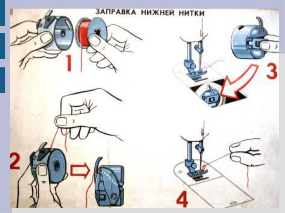 Почему путается нижняя нить на швейной машинке