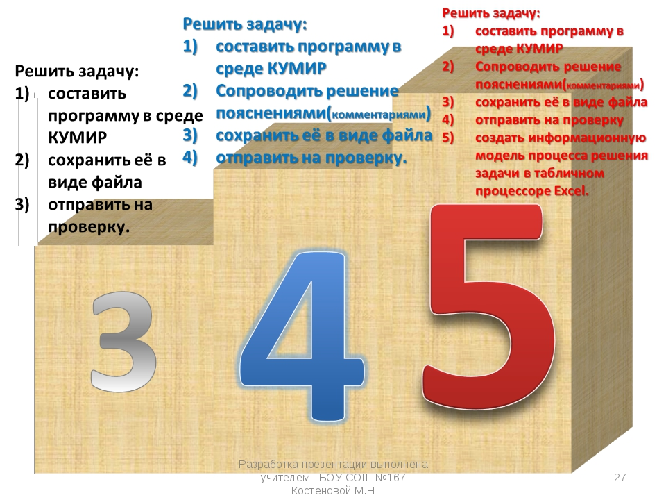 Разработка презентации выполнена учителем ГБОУ СОШ №167 Костеновой М.Н * Разр...