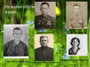 Не жалея собственной жизни… Баек Иосиф Михайлович Бажанов Виталий Сергеевич Б