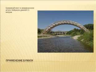 Бумажный мост в американском штате Небраска длиной 11 метров.