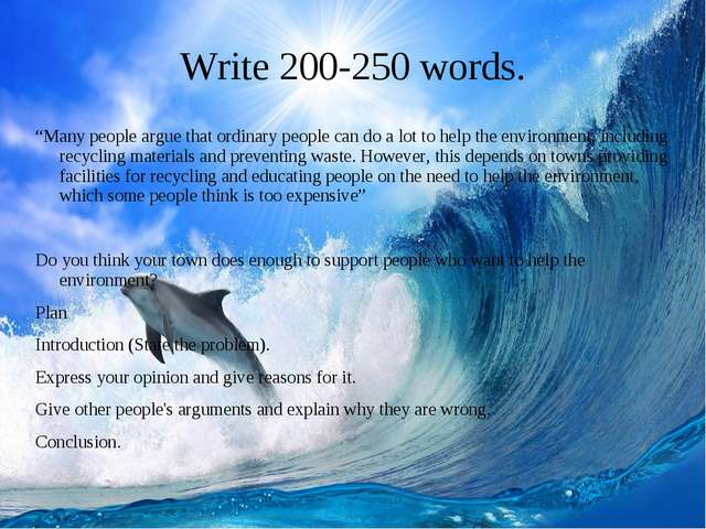 """Write 200-250 words. """"Many people argue that ordinary people can do a lot to..."""