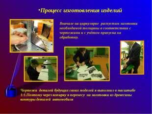 Процесс изготовления изделий Вначале на циркулярке распустим заготовки необх