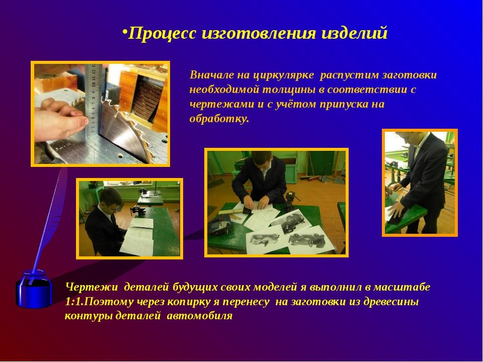 Процесс изготовления изделий Вначале на циркулярке распустим заготовки необх...