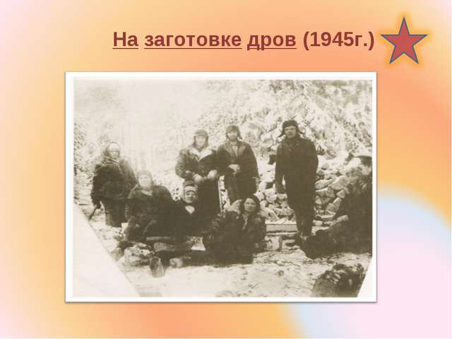 На заготовке дров (1945г.)