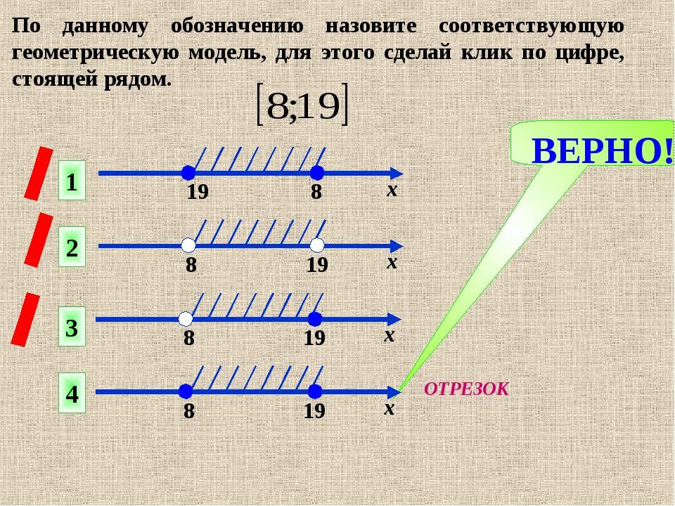 ВЕРНО! 1 2 4 3 По данному обозначению назовите соответствующую геометрическую...